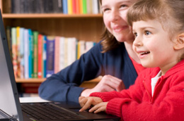 Child learning with Ultimate Phonics computer software program
